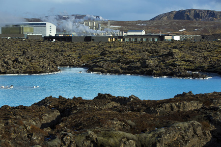 grindavik: Geothermal bath Blue Lagoon in West Iceland
