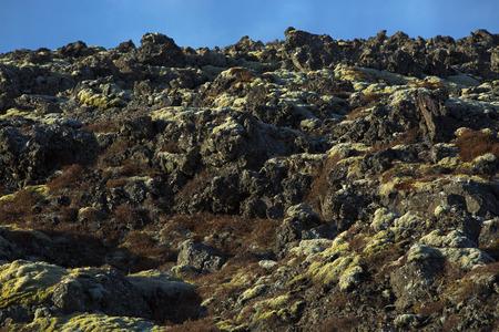 grindavik: Landscape of volcanic rocks in Iceland