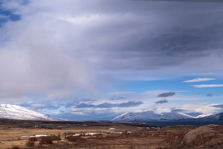impressive: Impressive colored landscape in North of Iceland in spring