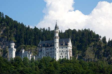 neuschwanstein: Castle of Neuschwanstein in the Bavarian Alps, Germany Editorial