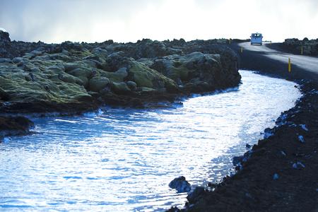 blue lagoon: Il servizio navetta per la geotermica bagno Blue Lagoon in Islanda
