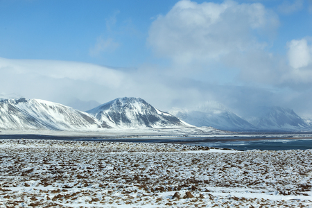 impressive: Impressive winter mountain landscape in Iceland
