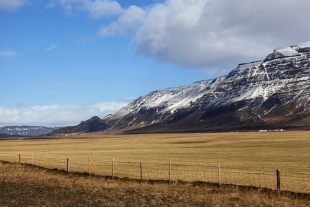 volcanic landscape: Volcanic landscape on the Snaefellsnes peninsula in Iceland Stock Photo