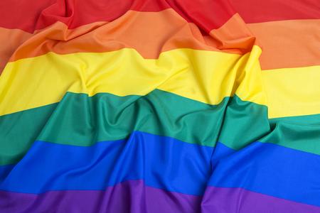sex discrimination: Rainbow flag as a background Stock Photo