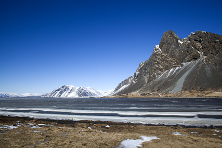 the east coast: East coast of Iceland in wintertime