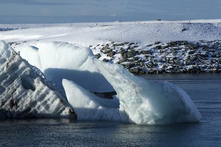 sight seeing: Glacier lagoon Jokulsarlon, Iceland in wintertime