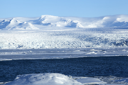 sight seeing: Glacier lagoon Jokulsarlon at Vatnajokull in Iceland Stock Photo