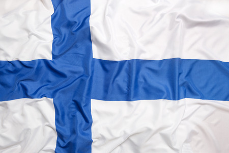 european flags: Flag of Finland as a background Stock Photo