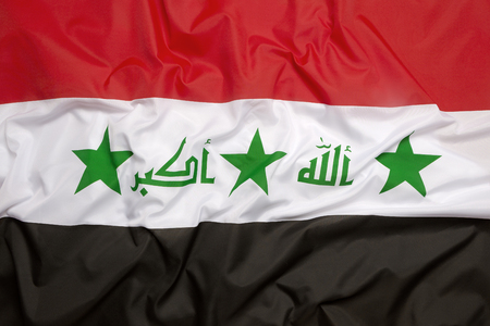 middle east war: Flag of Iraq as a background
