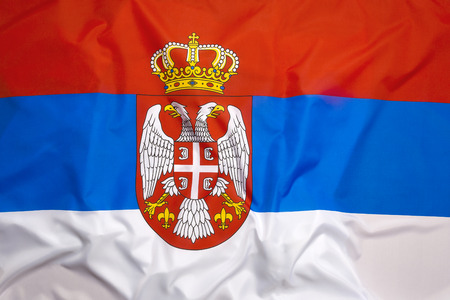 serbia: Flag of Serbia as a background