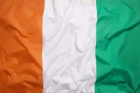 ivory: Flag of Ivory Coast as a background