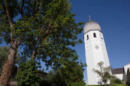 benedictine: Dome of Benedictine monastery Frauenchiemsee in Bavaria, Germany in summertime Stock Photo