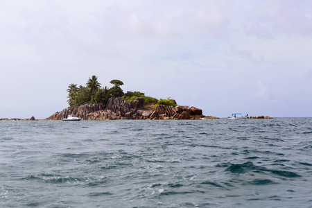 pierre: Tropical St. Pierre island at Seychelles Stock Photo