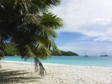 lazio: Tropical beach at Anse Lazio, Seychelles, summertime Stock Photo