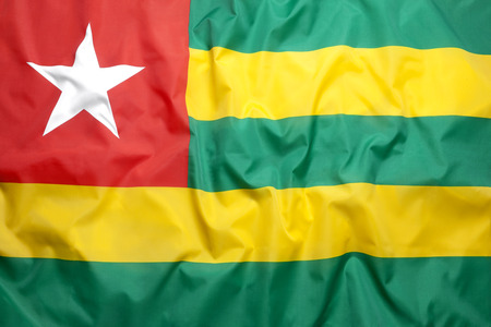 National flag of Togo for a background