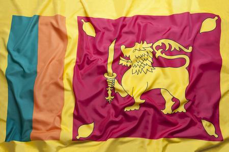 National flag of Sri Lanka for a background Standard-Bild