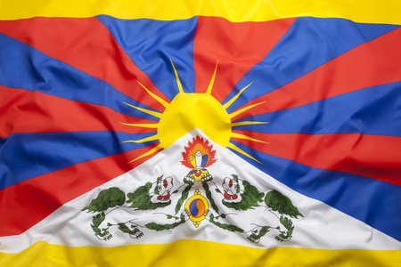 National flag of Tibet for a background