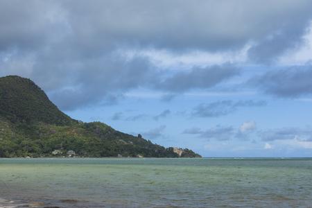 Nature panorama at Praslin island, Seychelles