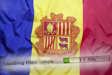 personally: Downloading files on a computer with Andorra flag