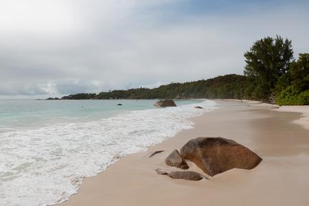 Anse Lazio beach panorama, Seychelles