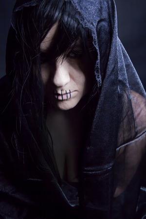 Black widow for Halloween 스톡 콘텐츠
