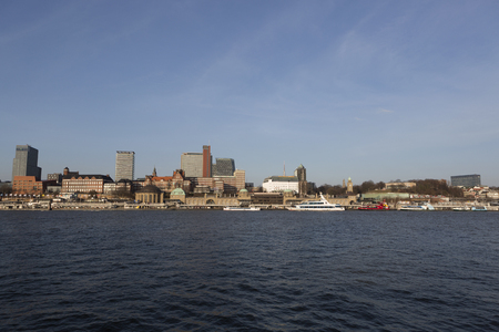 City view of Hamburg, Germany, daylight in springtime Editorial
