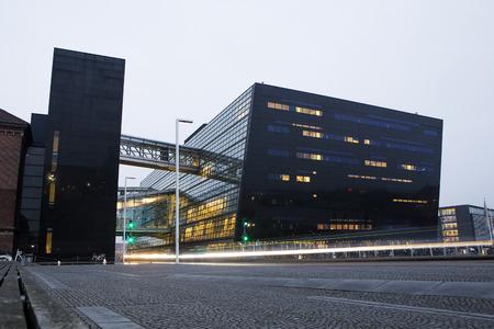 Modern library Black Diamond in Copenhagen, Denmark