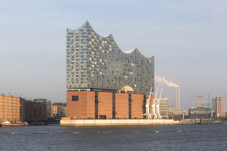 City view of Elbphilharmonie Hamburg, Germany