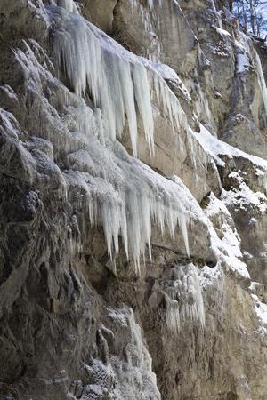 Partnachklamm in Garmisch-Partenkirchen, Bavaria, Germany, in wintertime 写真素材