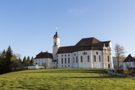 Pilgrimage Church Wieskirche in Pfaffenwinkel in Bavaria, Germany
