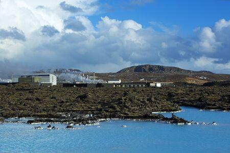 Geothermal bath Blue Lagoon in West Iceland