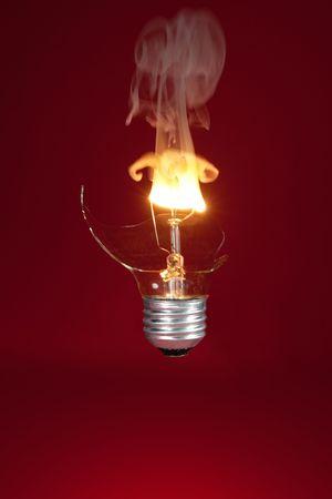 Broken Lightbulb photo