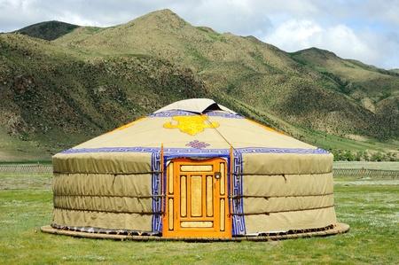 Yurt in Mongolië Stockfoto