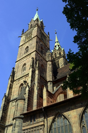 View to tower of Nuermberg cathedral