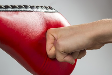 boxing exercise with fist shock