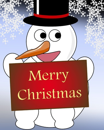 top hat: snow man with top hat Illustration