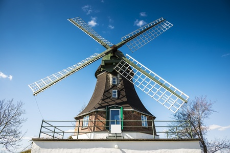 Closeup of windmill on a road in Germany Stock Photo - 19057415