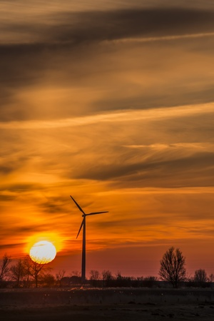 Windmills in northern Germany in the evening Stock Photo - 19057420