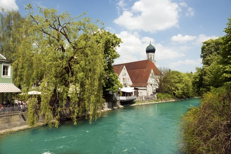 Picture of the river Amper in the Bavarian town Fürstenfeldbruck Stock Photo - 19844174