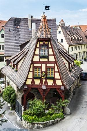Old smithy in Rothenburg ob der Tauber in Bavaria, Germany