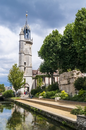 Picture of the tower named  clock tower  in the town Evreux, Normandy, France