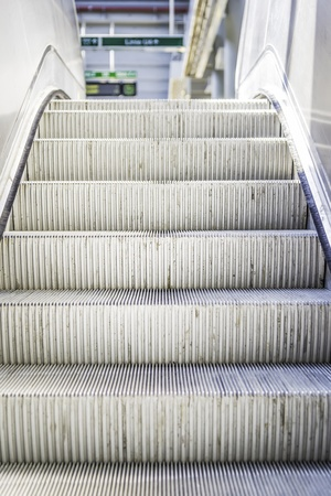 Picture of an escalator in a public building photo