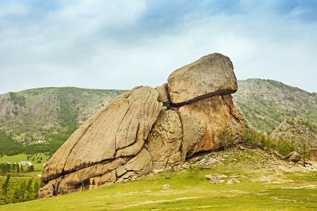 Turtle Rock in Terelj National Park Mongolia