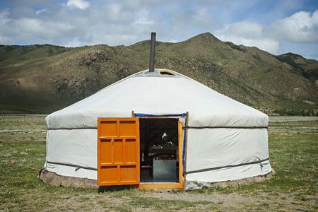 Typical Mongolian Yurt in Mongolia