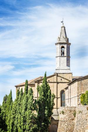 Church of Pienza in Tuscany, Italia, Europe photo