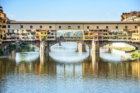 ponte vecchio: Picture of the famous ponte Vecchio in Florence, Italy Stock Photo