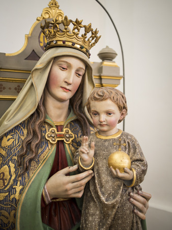Statue of Maria in a Bavarian church Stock Photo - 23292289
