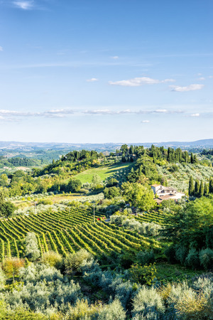 Image of a landscape near San Gimignano, Tuscany, Italy photo
