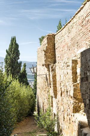 Wall in Pienza in Tuscany, Italia, Europe photo