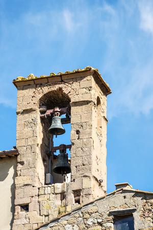 Belfry in Pienza in Tuscany, Italia, Europe